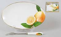 Набор: тарелочка с десерт. вилкой