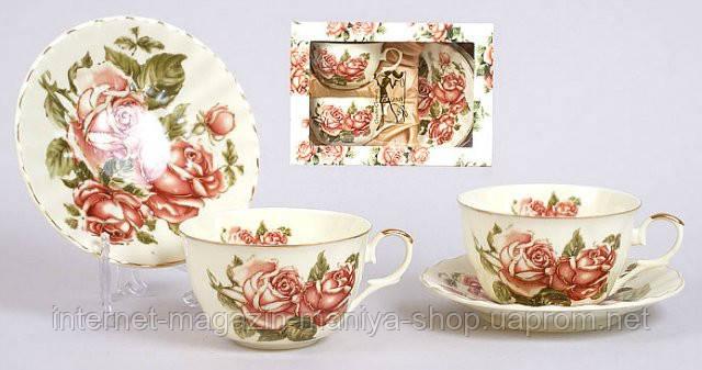 Чайный набор 2 чашки (250мл) + 2 блюдца