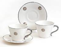 Чайный сервиз 4пр: 2 чашки + 2 блюдца