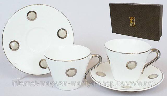 Кофейный набор 12пр: 6 чашек + 6 блюдец