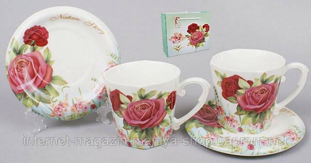 Чайный сервиз 4пр.: 2 чашки + 2 блюдца