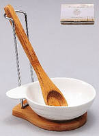 Ложка поварская 'Naturel' на бамбуковой подставке