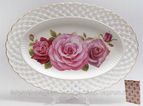 """Блюдо 30см овальное """"Розы"""""""