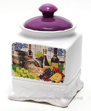Банка керамическая 870мл, серия Cheese&Wine