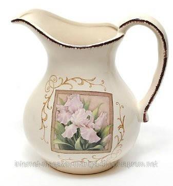 Кувшин керамический 1280мл, серия Розовый ирис