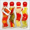 Декоративная бутылка с овощами