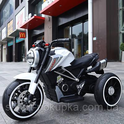 Їв-мобіль T-7236 EVA WHITE мотоцикл 2*6V4.5AH мотор 2*15W з MP3 102*51*59 /1/
