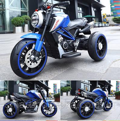 Їв-мобіль T-7236 EVA BLUE мотоцикл 2*6V4.5AH мотор 2*15W з MP3 102*51*59 /1/