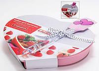 Набор для выпечки (2 предмета) - форма для выпечки в форме сердца 25.5x21x4см, лопатка 25.5x5.5см