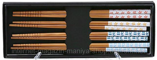 Набор из бамбуковых палочек в подар. упаковке (4пары)