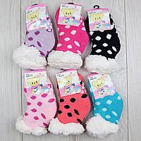 """Дитячі термо -шкарпетки на хутрі з гальмами """"Корона"""" від 0-12 і до 12-24месяцев"""
