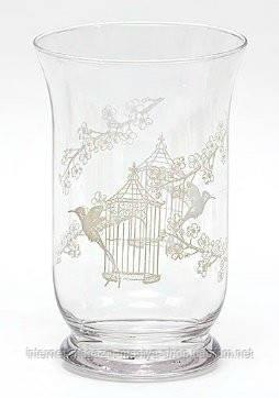 Стеклянная ваза/подсвечник
