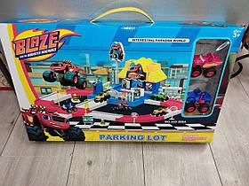 Парковка, автотрек гараж Вспыш і диво машинки 553-395 У наборі 2 машинки і дорожні знаки
