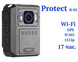 Відеореєстратор нагрудний Protect R-02, 1512p, WiFi, 32 gb. оптом