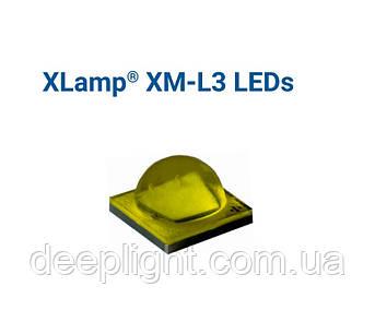 Новинка!! Світлодіод Cree XM-L3 17W 5000-6500K для ліхтарів,фар,світильників мідь 20мм 16мм