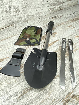 Саперная лопата 5 в 1 Нож Пилка Топор Открывашка. Туристический набор для выживания Туристический топорик 5B