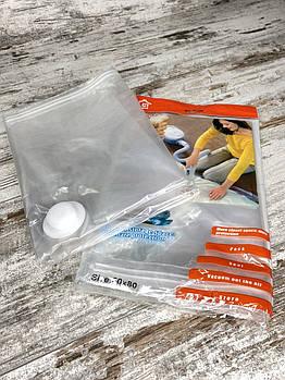 Вакуумный пакет для хранения вещей ADK 60х80 см (прозрачный) 5B