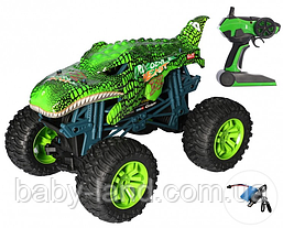 Джип машина Crazon радиоуправляемая корпус-динозавр небьющийся колеса надувные 333-19101