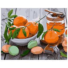Картина по Номерам Апельсины с макарунами 40х50см Strateg