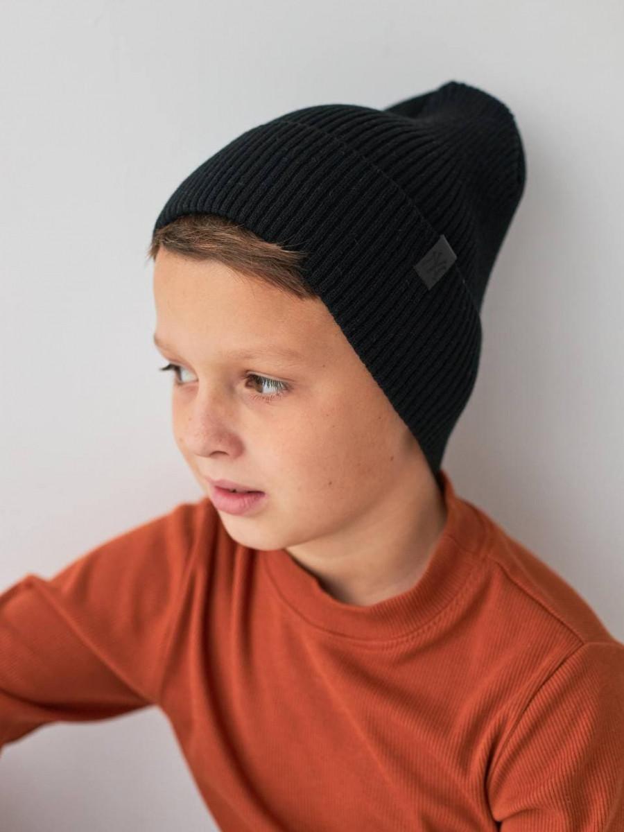Шапка c відворотом на весну-осінь для хлопчика оптом - Артикул 2898