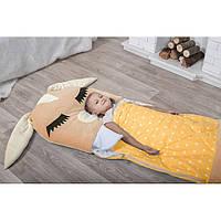Детский спальный мешок трансформер Зайчик бежевый. Детский спальник, слипик детский, детское одеяло