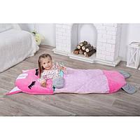 Детский спальный мешок трансформер Котенок розовый. Детский спальник, слипик детский, детское одеяло