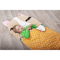 Детский спальный мешок трансформер Щенок бежевый. Детский спальник, слипик детский, детское одеяло