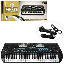 Детский музыкальный инструмент Детский синтезатор с микрофоном HS4921 от сети игрушка