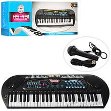 Детский музыкальный инструмент Детский синтезатор с микрофоном HS4931 функция записи игрушка