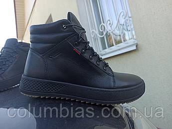 Кожаная зимняя мужская обувь, кроссовки зимние step choes 40-45