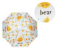 Зонтик детский MK 4115-1-6 трость (Мишка)