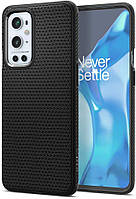 Чохол Spigen для OnePlus 9 Pro - Liquid Air, Matte Black (ACS02681)