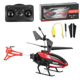 Радиоуправляемый вертолет с гироскопом для детей на аккумуляторе 27 см Черно-красный (59269)
