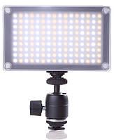 Накамерный видео свет Lishuai (Оригинал) LED-144AS (Би-светодиодная) + шарнирный держатель (LED-144A)