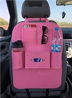 Органайзер для спинки сиденья автомобиля Vehicle mounted storage bag розовый