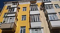 Покраска фасада, стен на высоте, фото 1