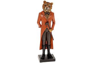 Статуетка Тигр з тростиною 31.5 см, колір - теракотовий. Символ 2022 року.