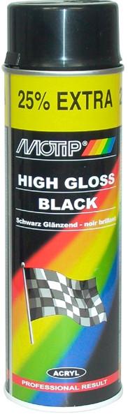 Краска MOTIP акрил черная глянц  500мл