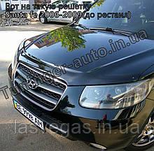 Зимова накладка на решітку Hyundai Santa Fe 2006-2009 (Fly/Глянець)