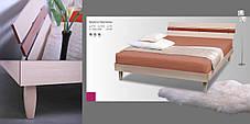 Кровать (ДСП) Прагматик-Микс дуб молочный+яблоня (Comfoson ТМ), фото 3