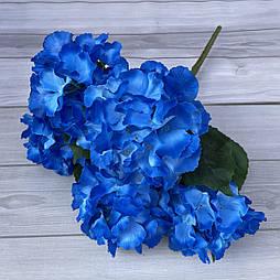 Букет гортензии 5 голов. синий 45 см