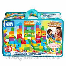Конструктор Мега блокс набор 150 деталей Давайте учиться Mega Bloks  Get Learning FVJ49