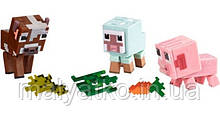 Набір фігурок тварини Майнкрафт Minecraft Baby Animals Comic Mode