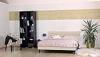 Кровать (ДСП) Прагматик дуб молочный (Comfoson ТМ)