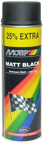 Краска MOTIP акрил черная матов  500мл