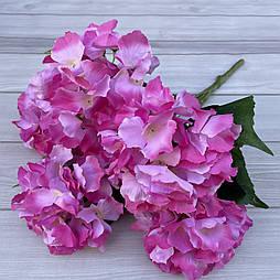 Букет гортензии 5 голов. розый двухцветный  45 см