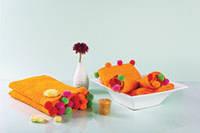 Полотенце с оригинальными разноцветными шариками 50x90 см Нора оранжевый