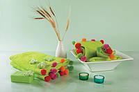 Полотенце с оригинальными разноцветными шариками 50x90 см цвет зеленый