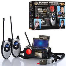 Детская игрушечная рация (2 штуки) со станцией 2509S на батарейках с звуковыми эффектами