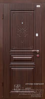 Двери в квартиру металл+МДФ с декором ТМ Абвер модель Montana